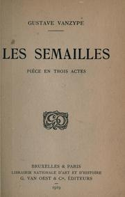 Cover of: Les semailles