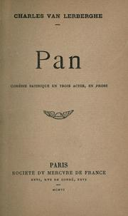 Cover of: Pan