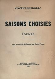 Cover of: Saisons choisies