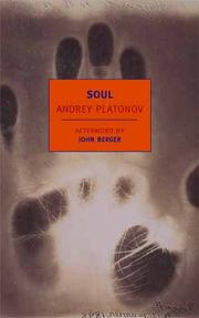 Cover of: Soul and other stories | Andreĭ Platonovich Platonov