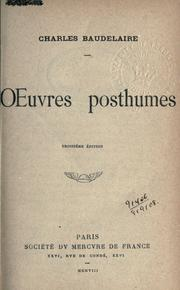 Cover of: Oeuvres posthumes: juvenilia, reliquiae
