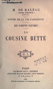 Cover of: La cousine Bette