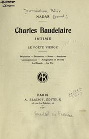 Cover of: Charles Baudelaire, intime, le poıete vierge
