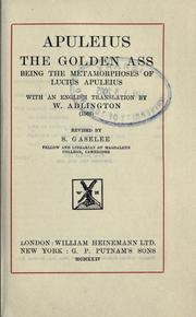 Cover of: The golden ass | Apuleius