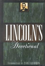 Cover of: Lincoln's Devotional