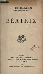 Béatrix by Honoré de Balzac