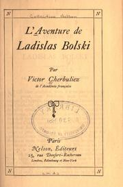Cover of: L' aventure de Ladislas Bolski