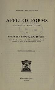 Applied forms by Ebenezer Prout