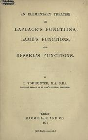 Cover of: An elementary treatise on Laplace