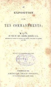 Cover of: An exposition of the ten commandments