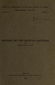 Cover of: History of the Queen's Rangers