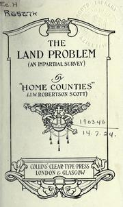 Cover of: The land problem