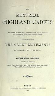 Cover of: The Montreal Highland cadets