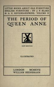 Cover of: The period of Queen Anne