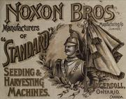 Cover of: Seeding and harvesting machinery | Noxon Bros. Manufacturing Company.