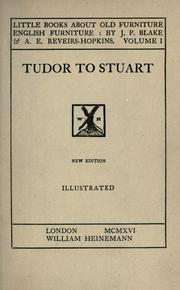 Cover of: Tudor to Stuart by John Percy Blake