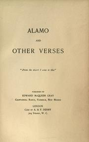 Cover of: Alamo, and other verses