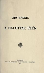 Cover of: A halottak élén