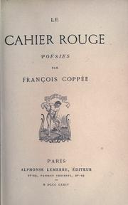 Cover of: Le cahier rouge