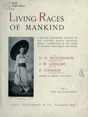 Cover of: Living races of mankind by H. N. Hutchinson