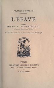 Cover of: L' épave