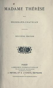 Cover of: Madame Thérèse [par] Erckmann-Chatrian