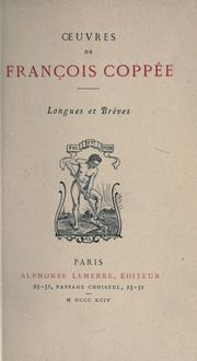 Cover of: Oeuvres, longues et brèves