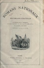 Cover of: Romans nationaux