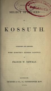 Cover of: Select speeches of Kossuth