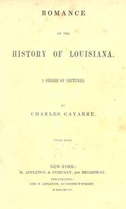 Cover of: Romance of the history of Louisiana