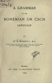 Cover of: A grammar of the Bohemian or Cech language
