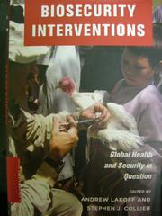 Cover of: Biosecurity interventions |