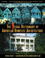 Cover of: The Visual Dictionary of American Domestic Architecture