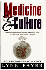 Cover of: Medicine and culture | Lynn Payer