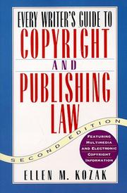 Cover of: Every Writer's Guide to Copyright and Publishing Law, Second Edition (Every Writer's Guide to Copyright & Publishing Law)