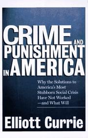Cover of: Crime and punishment in America