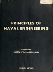 Cover of: Principles of naval engineering. | United States. Bureau of Naval Personnel.