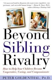 Cover of: Beyond sibling rivalry