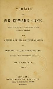 Cover of: The life of Sir Edward Coke
