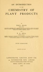 An introduction to the chemistry of plant products by Paul Haas