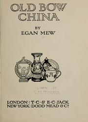Cover of: Old Bow china