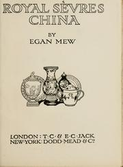 Cover of: Royal Sèvres china