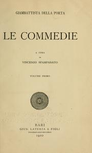 Cover of: Le commedie