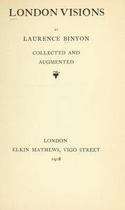 Cover of: London visions