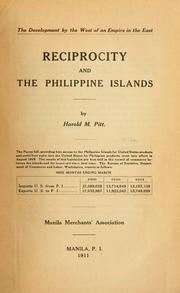 Cover of: Reciprocity and the Philippine islands