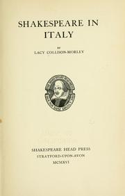 Shakespeare in Italy by Lacy Collison-Morley