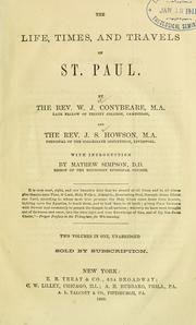 Cover of: The life, times, and travels of St. Paul