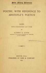 Cover of: Poetry, with reference to Aristotles' Poetics: edited with introduction and notes by Albert S. Cook.