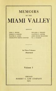 Cover of: Memoirs of the Miami Valley, vol. 1 |
