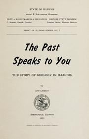Cover of: The past speaks to you